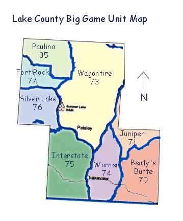 Wildlife Management Units Map Oregonsoutback Com